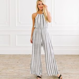 Pants - Nantucket Striped Jumpsuit